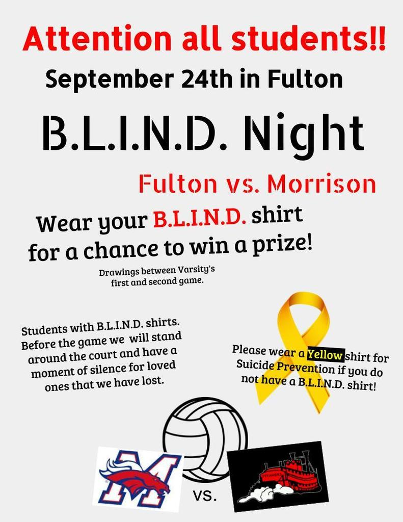 BLIND volleyball flyer