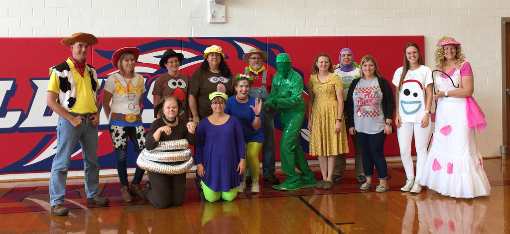 MHS Staff showing their school spirit for Homecoming!