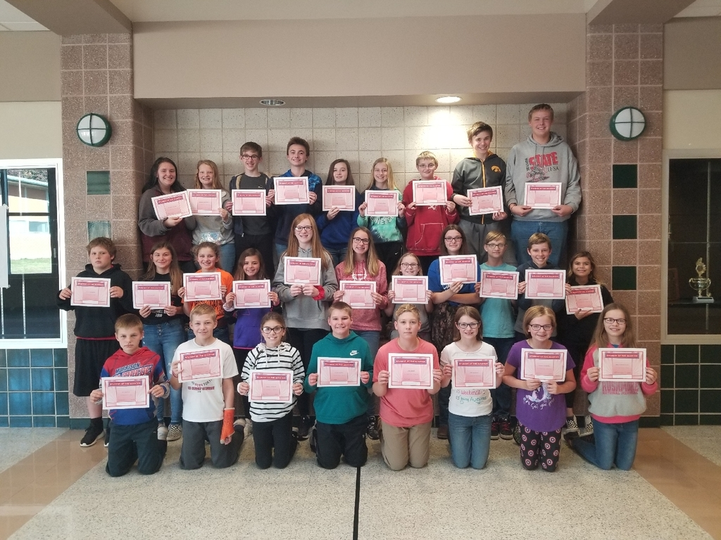 MJHS Students of the Quarter